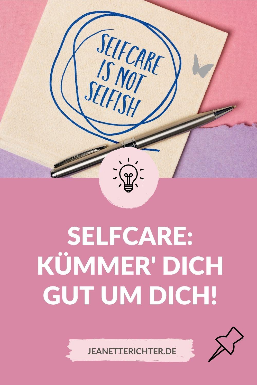 Grafik Selfcare Kümmer Dich um Dich